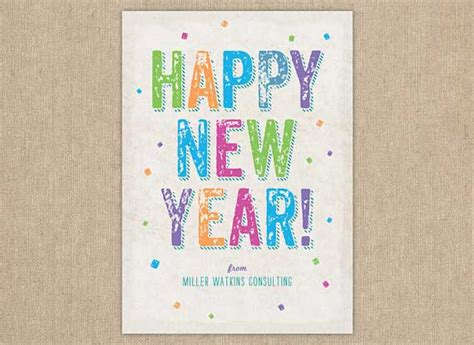 new year free printable cards 50 creative new year card designs for inspiration jayce