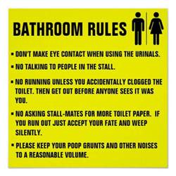 Bathroom Etiquette In The Workplace Bathroom Etiquette Signs