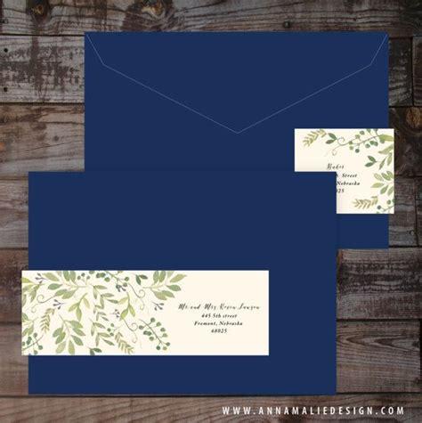 Wrap Around Mailing Labels Wedding