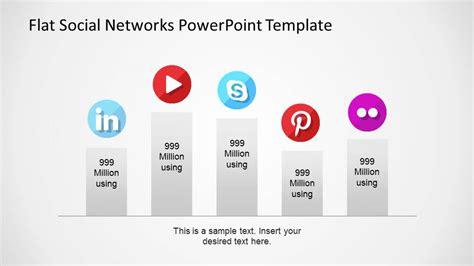network powerpoint template flat social networks powerpoint template slidemodel