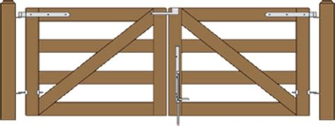 build   gate ranch gate rail gate bar