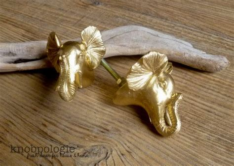 baby elephant drawer pulls limited edition set of 6 gold elephant bust knobs