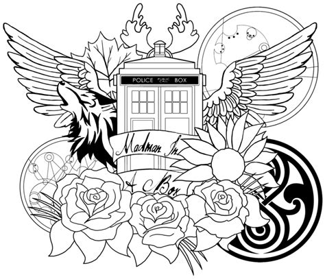 tardis doctor who coloring pages coloring pages