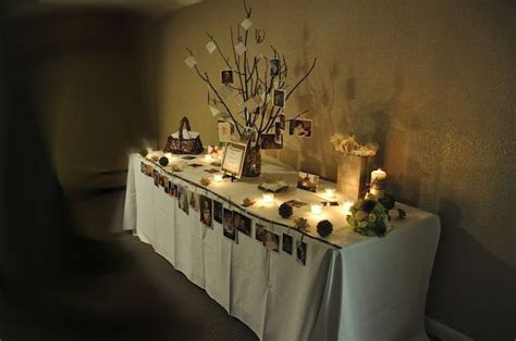 memorial table for funeral 7 best scrapbook poster board memorial images on
