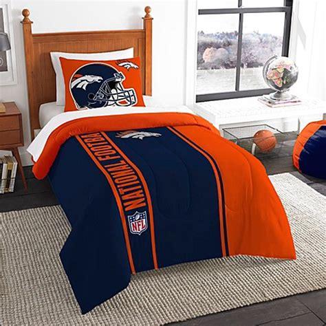 denver broncos comforter buy nfl denver broncos full embroidered comforter set from