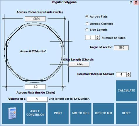 Layout Editor Convert To Polygon   editcnc calculator regular polygon calculations