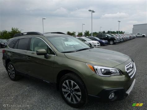 green subaru outback 2017 2017 wilderness green metallic subaru outback 2 5i limited