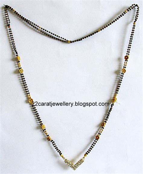 Berapa Pinset single bead necklace design jewellery designs 22 carat nallapusalu black jewellery