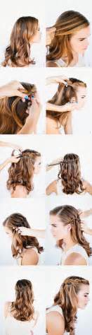 waterfall hairstyle step by step how to do waterfall braid wedding hairstyle for long hairs
