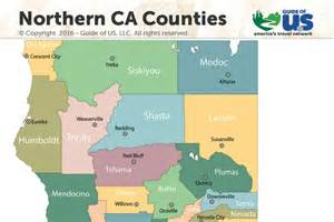 map of northern california counties northern california maps