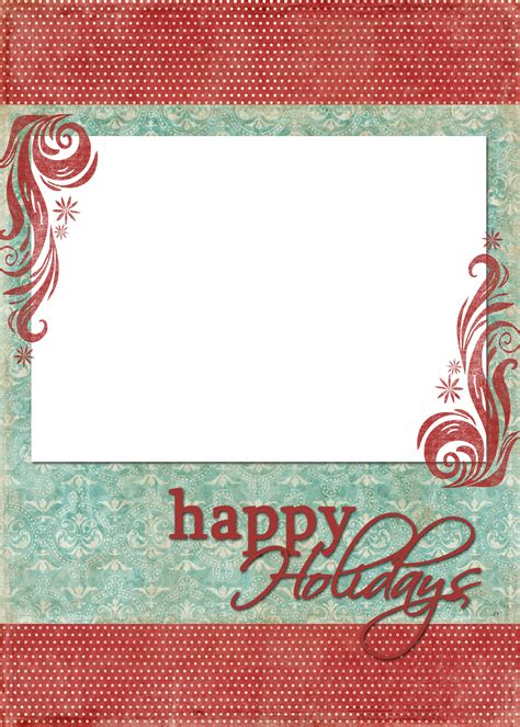 happy holidays card template happy holidays blue freebies