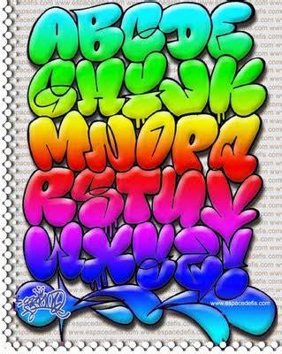 bubble collor graffiti alphabet