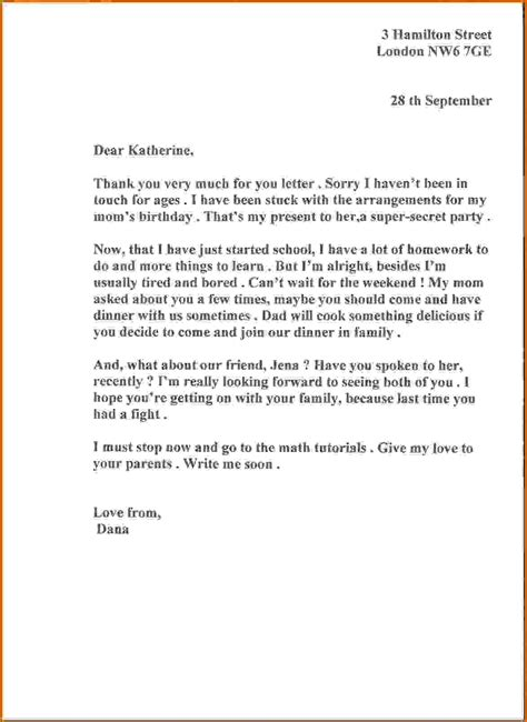 layout of informal letter exles 8 informal letter to a friend lease template