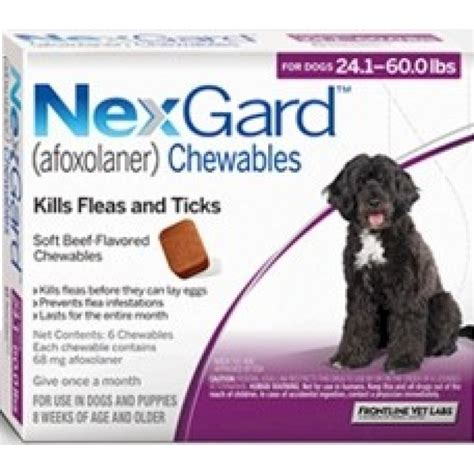 what is nexgard for dogs nexgard for dogs 24 60 lbs purple 3 tablets