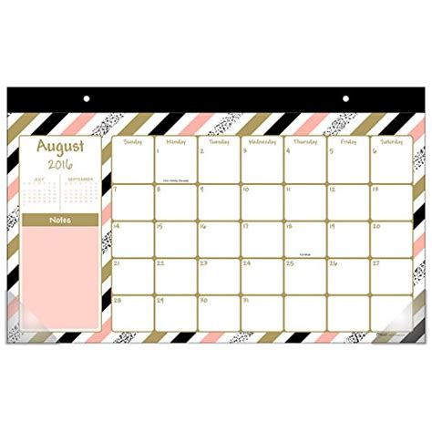 academic year desk calendar mead academic year monthly desk calendar august 2016