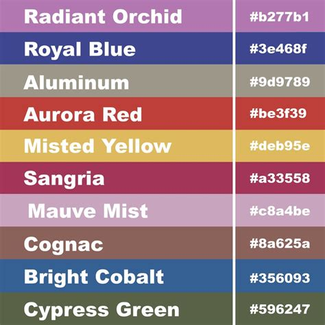 Best Color Hex Codes by Girly Business Cards Girly Business Cards Blog Tips