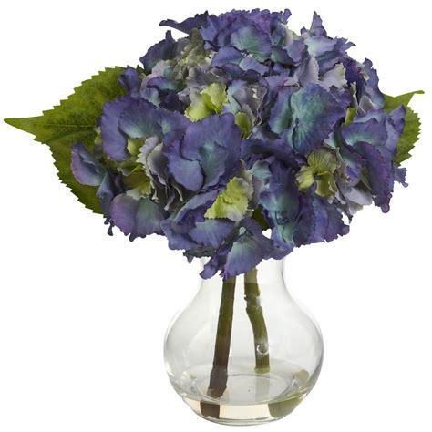 blooming vase blooming hydrangea w vase arrangement silk specialties