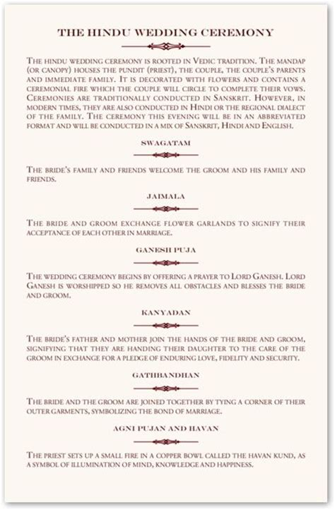 Hindu Wedding Ceremony Explanation Cards Design Templates by 25 Best Ideas About Indian Wedding Cards On
