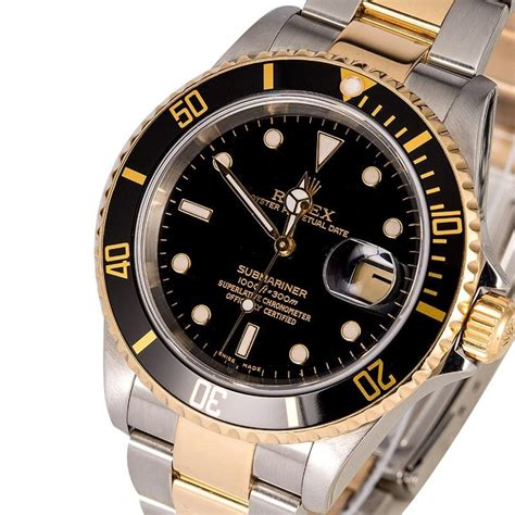 Rolex Oyster Submariner 2 s rolex submariner 16613 two tone oyster
