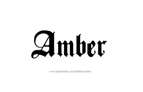 tattoo ideas for the name amber tattoo design colors names amber 21 png