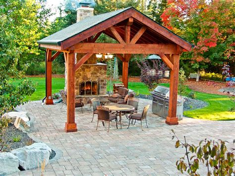 outdoor pavillon covered patio pavilion design construction in spokane