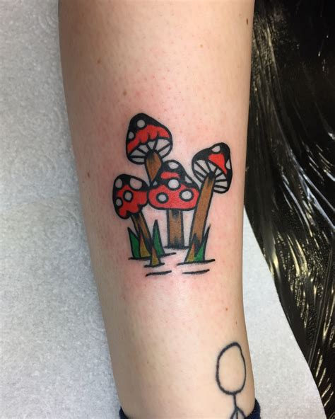 mushroom tattoo justgetapanther traditionaltattoo