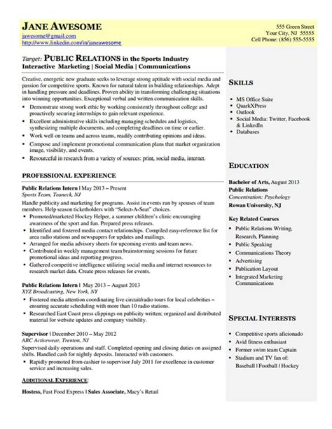 Resume Exles For Communications Director Relations Entry Level Dynamic Resumes Of Nj
