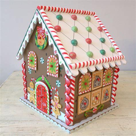 gingerbread house to buy uk gingerbread house advent calendar by little ella james notonthehighstreet com