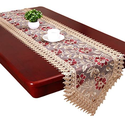 burgundy lace table runner grelucgo cominhkpr131602 beige burgundy lace table runners