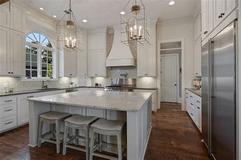 marble kitchen islands white kitchen with large island kitchen and decor