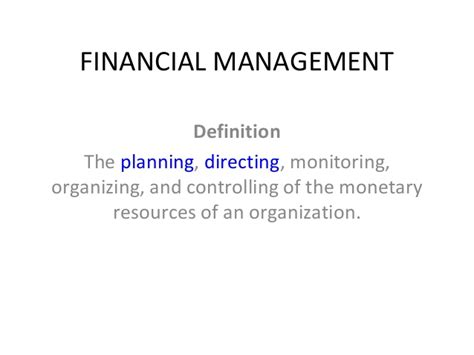 controlling definition financial management intro