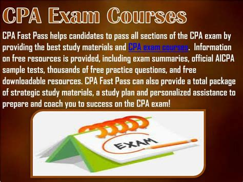 cpa exam 4 sections ppt cpa exam courses powerpoint presentation id 7260782