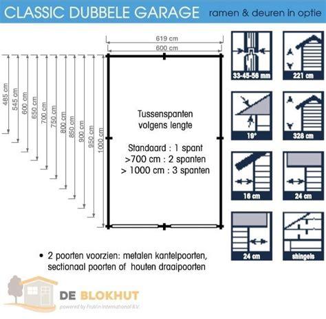Standaard Afmeting Garage by Duurzame Garage Classic In De Afmeting 619x669cm