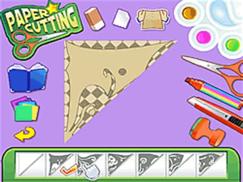 cutting games paper play paper cutting online for free pog com