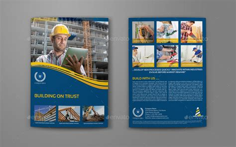 construction brochure template construction company brochure bi fold template vol 3 by