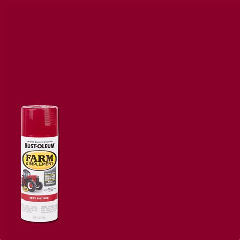 rust oleum 12 oz farm and implement gloss troy bilt spray paint of 6 303473 the