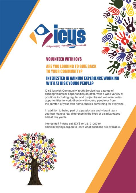 leaflet design ipswich flyer design for icys ipswich community youth service inc