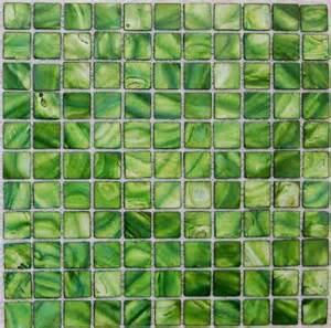 Mother of pearl tile kitchen backsplash mop074 green shell
