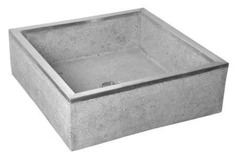 stainless steel sink cap fiat products mop sink terrazzo with stainless steel caps