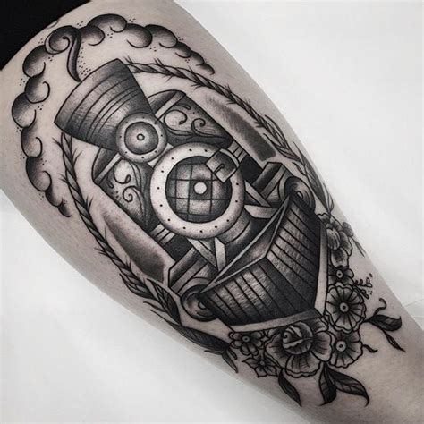 tomboy tattoo designs 10 bold traditional locomotive tattoos