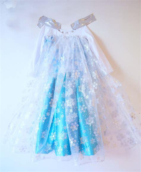 Handmade Elsa Dress - disney frozen preview elsa costume tutorial