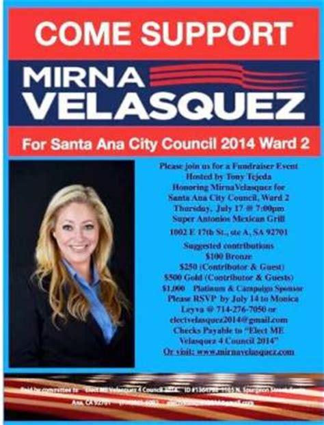 Mirna Set new santa fundraiser for ward 2 candidate mirna