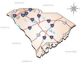 south carolina interstate map south carolina mappery