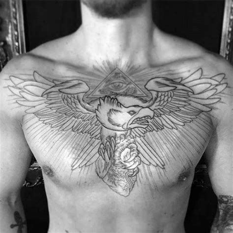 tattoo on upper chest 80 eagle chest tattoo designs for men manly ink ideas