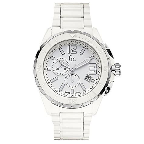 Gc Ceramic Chronograph Ring guess collection gc men s sport class chronograph white ceramic swiss made x76015g1s