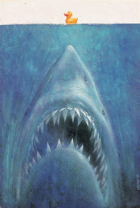 shark rubber st artist sebastian kruger poster