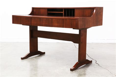writing desk modern mid century modern walnut writing desk vintage supply store