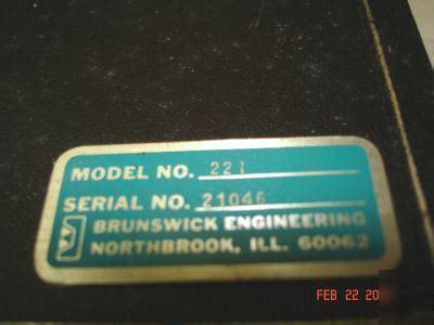 brunswick engineering program does heavy brunswick engineering model 221 probe