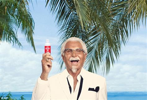actors in kentucky fried chicken commercials kfc s new marketing gimmick give away scented sunscreen