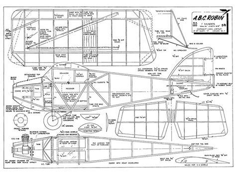 free rc plans abc robin plans download model aircraft by f